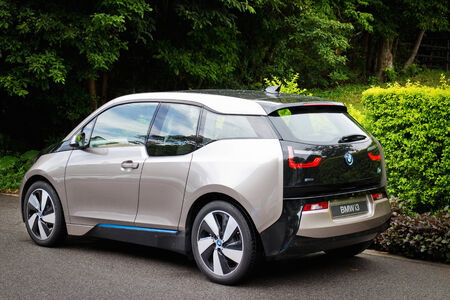i3: Hong Kong, China Aug 19, 2014 : BMW i3 e-drive 2014 test drive on Aug 19 2014 in Hong Kong.