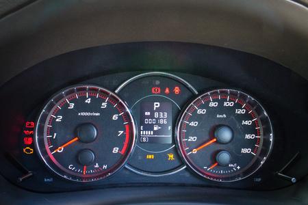 Hong Kong, China Sept 1, 2014 : Subaru Exiga STI 2014 Dashboard on Sept 1 2014 in Hong Kong.