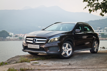 Hong Kong, China Sept 19, 2014 : Mercedes-Benz GLA 4MATIC 2014 test drive on Sept 19 2014 in Hong Kong.