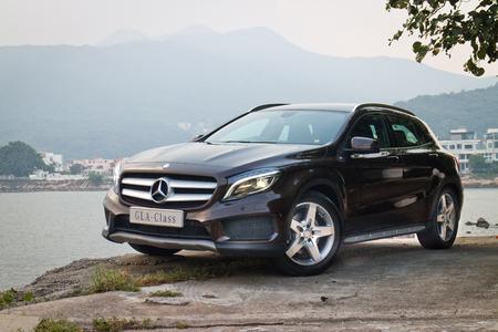 Hong Kong, China Sept 19, 2014 : Mercedes-Benz GLA 4MATIC 2014 test drive on Sept 19 2014 in Hong Kong.