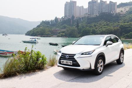 lexus: Hong Kong, China Oct 8, 2014 : Lexus NX 300h Hybrid SUV 2014 test drive on Oct 9 2014 in Hong Kong.