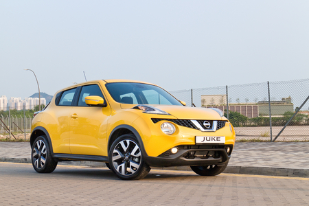 Hong Kong, China Oct 9, 2014 : Nissan Juke 1.2 DIG-Turbo 2014 test drive on Oct 9 2014 in Hong Kong.
