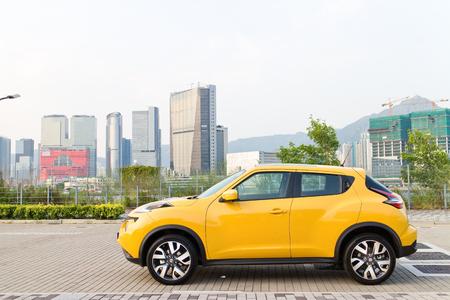 Hong Kong, China Oct 9, 2014 : Nissan Juke 1.2 DIG-Turbo 2014 test drive on Oct 9 2014 in Hong Kong. Reklamní fotografie - 33183808