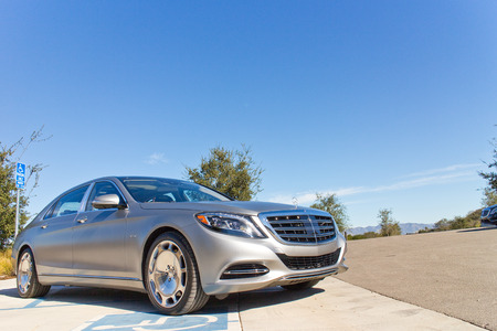 test drive: Santa Barbara, USA Jan 17, 2015 : Mercedes-Maybach S 600 2015 Test Drive on Jan 17 2015 in Hong Kong.