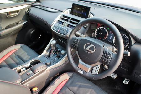 lexus auto: Hong Kong, China Jan 21, 2015 : Lexus NX 200t 2015 interior on Jan 21 2015 in Hong Kong.