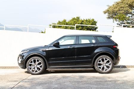 test drive: Hong Kong, China Jan 23, 2015 : Range Rover Evoque Autobiography 2015 Test Drive on Jan 23 2015 in Hong Kong. Editorial