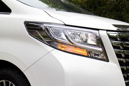 head light: Hong Kong, China March 16 2015 : Toyota Alphard 2015 Head Light on March 16 2015 in Hong Kong.