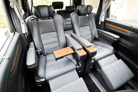 Hong Kong, China March 16 2015 : Toyota Alphard 2015 Centre Row Seat on March 16 2015 in Hong Kong.