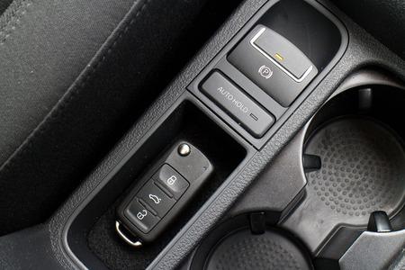 keyless: Hong Kong, China March 16 2015 : Volkswagen Tiguan 2015 Key on March 16 2015 in Hong Kong.
