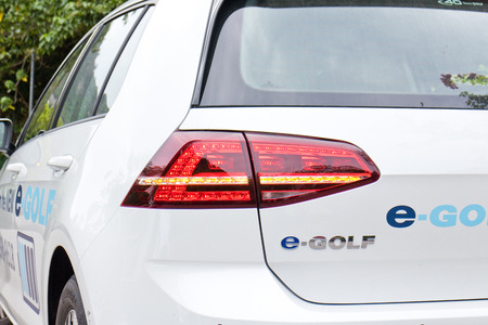 e 27: Hong Kong, China March 27 2015 : Volkswagen e-Golf 2015 ECO Wheel on March 27 2015 in Hong Kong. Editorial