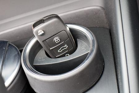 keyless: Hong Kong, China March 31 2015 : Audi A3 Convertible 2015 Key on March 31 2015 in Hong Kong.
