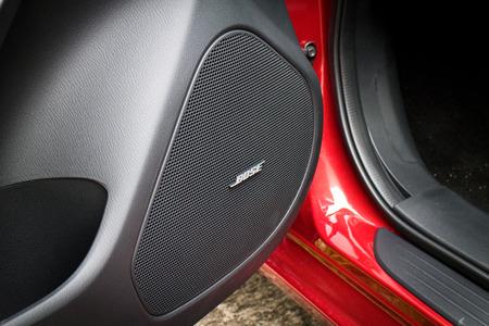 hi fi: Hong Kong, China April 9 2015 : Mazda6 SKYACTIV 2015 Bose Hi Fi System on April 9 2015 in Hong Kong. Editorial