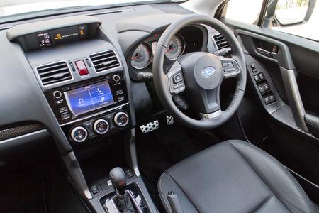 forester: Hong Kong, China April 9 2015 : Subaru Forester STI 2015 Interior on April 9 2015 in Hong Kong. Editorial