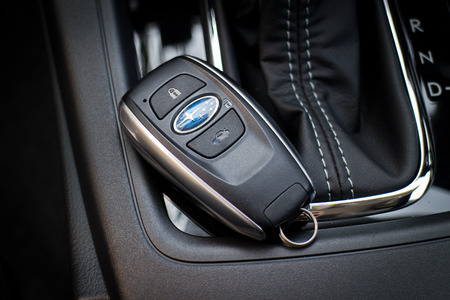 forester: Hong Kong, China April 9 2015 : Subaru Forester STI 2015 Keyless on April 9 2015 in Hong Kong. Editorial