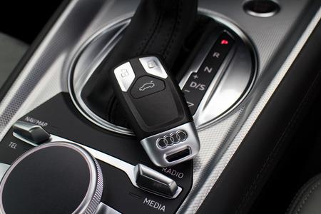 keyless: Hong Kong, China April 23 2015 : Audi TT Coupe 2015 Keyless on April 23 2015 in Hong Kong.