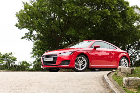 Hong Kong, China April 23 2015 : Audi TT Coupe 2015 Test Drive on April 23 2015 in Hong Kong.