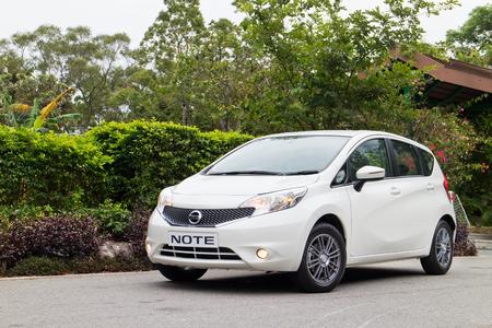 test drive: Hong Kong, China May 5 2015 : Nissan Note 2015 Test Drive on May 5 2015 in Hong Kong.