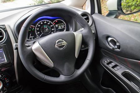 nissan: Hong Kong, China May 5 2015 : Nissan Note 2015 Interior on May 5 2015 in Hong Kong.