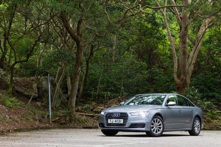 test drive: Hong Kong, China May 17 2015 : Audi A6 35 TFSI 2015 Test Drive on May 17 2015 in Hong Kong.