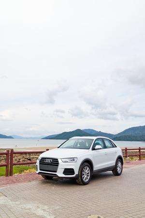 test drive: Hong Kong, China July 30 2015 : Audi Q3 Facelift 2015 Test Drive Day on July 30 2015 in Hong Kong.