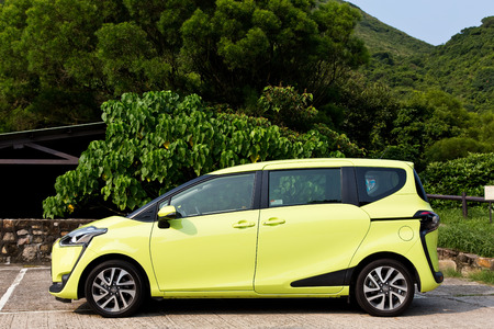 test drive: Hong Kong, China Aug 25 2015 : Toyota SIENTA 2015 Test Drive Day on Aug 25 2015 in Hong Kong.