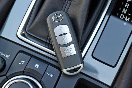 keyless: Hong Kong, China July 31 2015 : Mazda6 SKYACTIV-D 2015 Keyless on July 31 2015 in Hong Kong. Editorial
