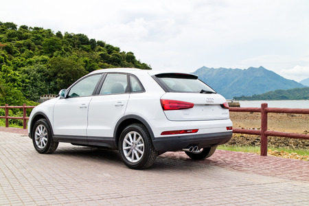 facelift: Hong Kong, China July 30 2015 : Audi Q3 Facelift 2015 Test Drive Day on July 30 2015 in Hong Kong.