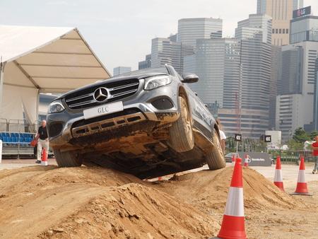 test drive: Hong Kong, China Nov 4 2015 : Mercedes-Benz GLC Off-road Test Drive Day on Nov 4 2015 in Hong Kong.