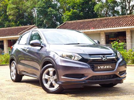 test drive: Hong Kong, China Sept 10 2015 : Honda Vezel 2015 Test Drive Day on Sept 10 2015 in Hong Kong.
