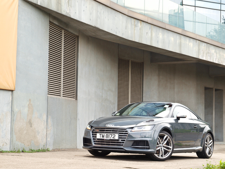 test drive: Hong Kong, China Sept 11 2015 : Audi TTS 2015 Test Drive Day on Sept 11 2015 in Hong Kong. Editorial