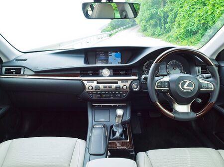 lexus: Hong Kong, China Sept 11 2015 : Lexus ES 250 2015 Engine on Sept 11 2015 in Hong Kong.