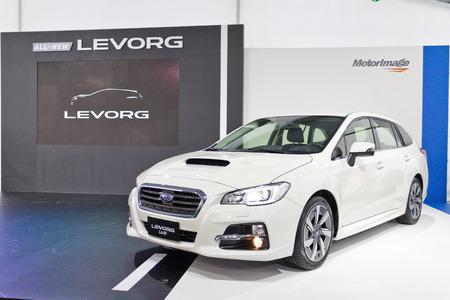 test drive: Hong Kong, China Oct 14 2015 : Subaru LEVORG 2015 Test Drive Day on Oct 14 2015 in Hong Kong.