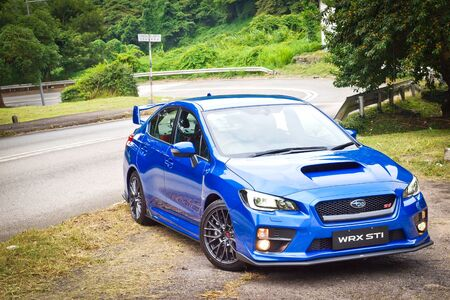 Hong Kong, China Oct 2 2015 : Subaru WRX STI 2015 Test Drive Day on Oct 2 2015 in Hong Kong.