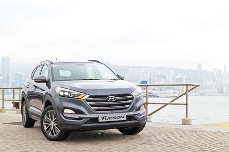 facelift: Hong Kong, China Aug 26 2015 : Hyundai Tucson Facelift 2015 Test Drive Day on Aug 26 2015 in Hong Kong. Editorial