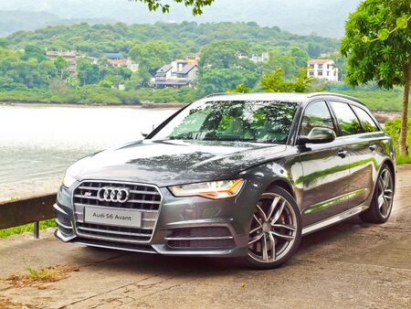 facelift: Hong Kong, China Aug 27 2015 : Audi S6 Facelift 2015 Test Drive Day on Aug 27 2015 in Hong Kong.