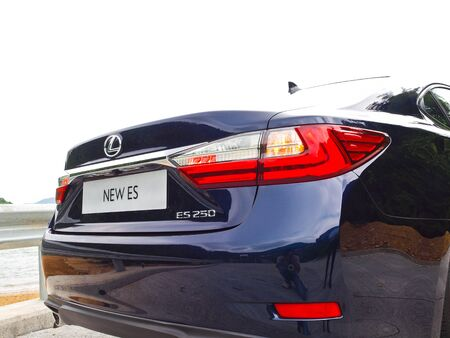 lexus auto: Hong Kong, China Sept 11 2015 : Lexus ES 250 2015 Test Drive Day on Sept 11 2015 in Hong Kong.