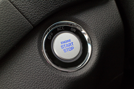 keyless: Hong Kong, China Aug 26 2015 : Hyundai Tucson Facelift 2015 Start Stop Button on Aug 26 2015 in Hong Kong. Editorial