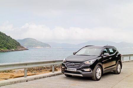 test drive: Hong Kong, China Nov 17, 2015 : Hyundai SantaFe 2015 Test Drive Day on Nov 17 2015 in Hong Kong.