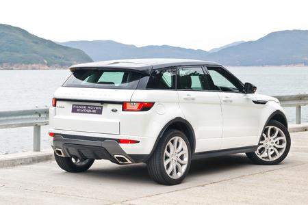 test drive: Hong Kong, China Jan 25, 2016 : Range Rover Evoque 2016 Test Drive Day on Jan 25 2016 in Hong Kong.
