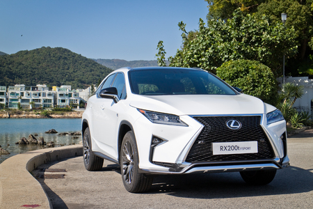 rx: Hong Kong, China Jan 25, 2016 : Lexus RX 200t F Sport 2016 Test Drive Day on Jan 25 2016 in Hong Kong.