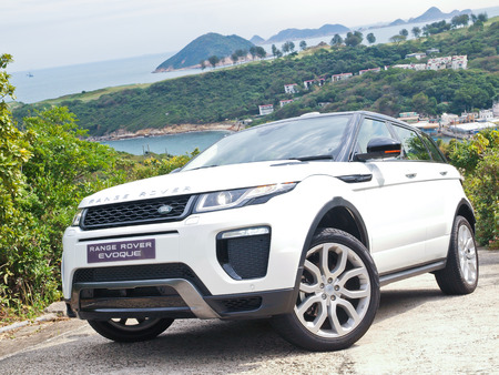 Hong Kong, China Jan 25, 2016 : Range Rover Evoque 2016 Test Drive Day on Jan 25 2016 in Hong Kong.