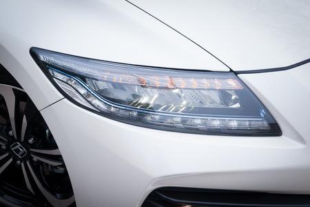 test drive: Hong Kong, China April 19, 2016 : Honda CRZ 2016 Test Drive Day on April 19 2016 in Hong Kong.