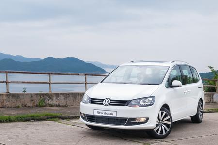 Hong Kong China April 5 2016 Volkswagen Sharan 2016 Test Stock