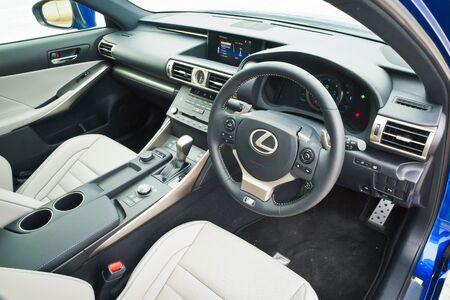 lexus auto: Hong Kong, China Feb 11, 2016 : Lexus IS200t Tubro 2016 Interior on Feb 11 2016 in Hong Kong. Editorial