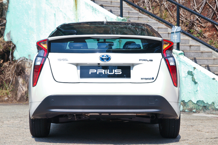 Hong Kong, China Feb 23, 2016 : Toyota Prius 2016 Test Drive Day on Feb 23 2016 in Hong Kong. Reklamní fotografie - 58863508