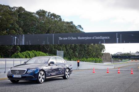 test drive: Portuguesa, March 3, 2016 : Mercedes-Benz E-Class 2016 Test Drive Day on Match 3 2016 in Portuguesa. Editorial