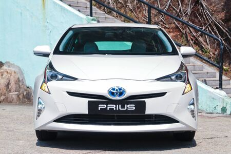 Hong Kong, China Feb 23, 2016 : Toyota Prius 2016 Test Drive Day on Feb 23 2016 in Hong Kong. Reklamní fotografie - 58863708