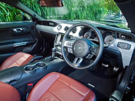 v8: Hong Kong, China July 21, 2016 : Ford Mustang 5.0 V8  2016 Interior on July 21 2016 in Hong Kong. Editorial