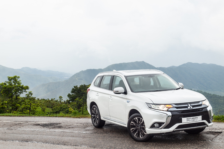 Hong Kong, China June 29, 2016 : Mitsubishi Outlander PHEV 2016 Test Drive Day on June 29 2016 in Hong Kong.