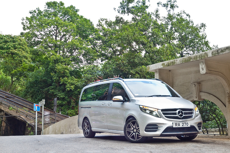 Hong Kong, China July 18, 2016 : Mercedes-Benz V-Class 2016 Test Drive Day on July 18 2016 in Hong Kong.